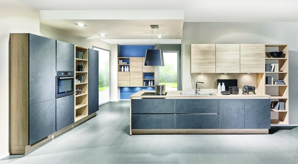 nobilia StoneArt & Rio Handleless Kitchen from the German Kitchen Company