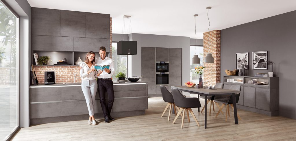 Concrete Slate Grey Reproduction. Ivory Tradtional Kitchen From The German  Kitchen Company